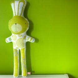printed soft toy - Simao the rabbit