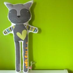 printed soft toy - Reinaldo the cat