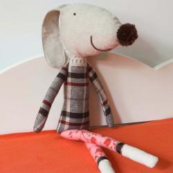 Ernesto the soft toy dog